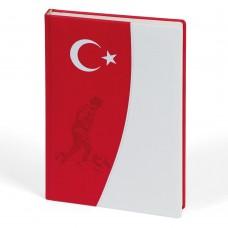ATATÜRK ÇİZGİLİ TARİHSİZ DEFTER (17X24 CM)